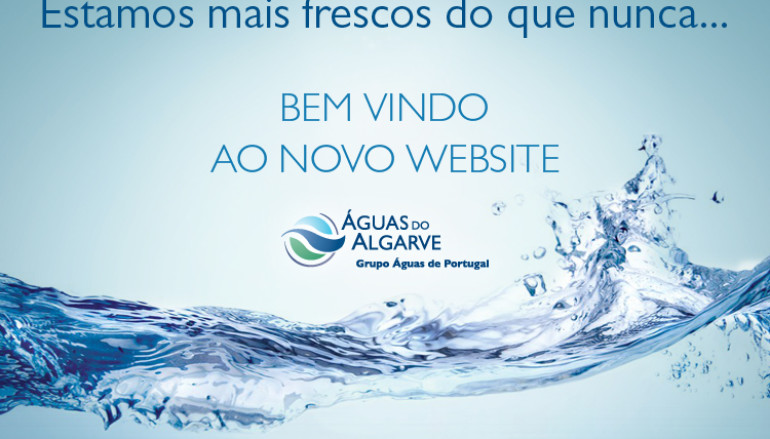 Águas do Algarve com novo site