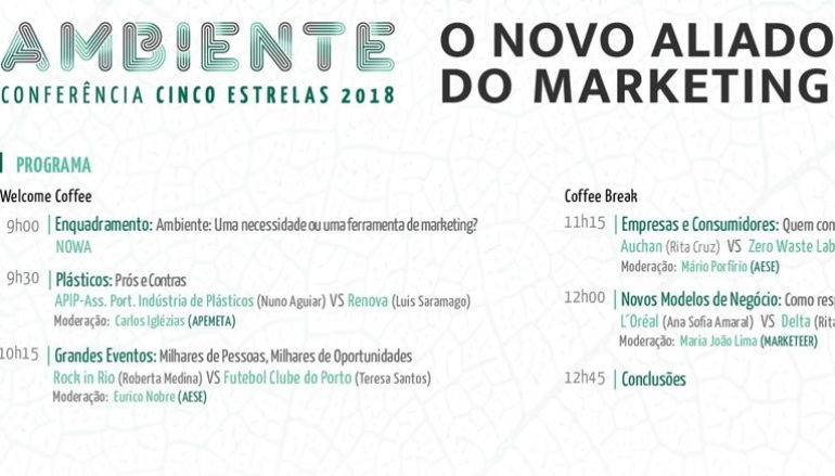 """Ambiente: o novo aliado do Marketing"" em debate no dia 14 de novembro"
