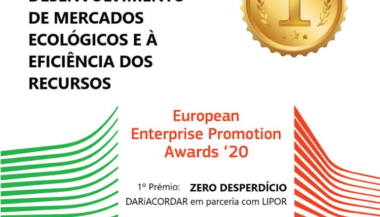 Projeto Zero Desperdício vence os European Enterprise Promotion Awards 2020 do IAPMEI